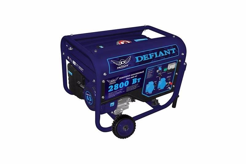 Бензиновые генераторы Defiant