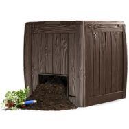 Компостер KETER Deco Composter 340 л коричневый с дном